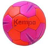 Kempa Leo Ballon de handball Rose/Carotte/Turquoise Taille 1