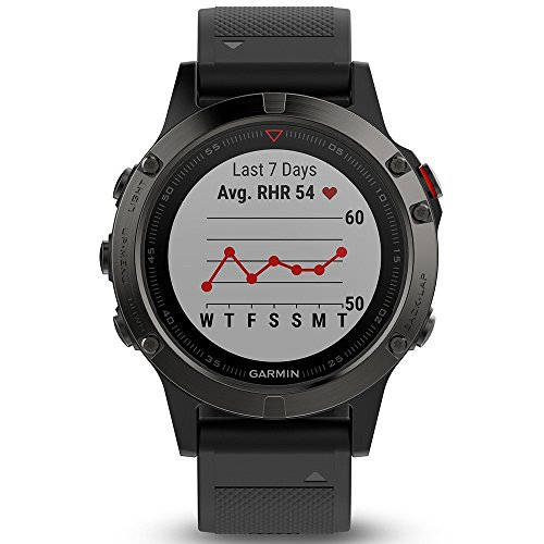 Garmin Fenix 5 Multisport GPS Watch with Outdoor Navigation and Wrist-Based Heart Rate – Slate Grey with Black Band