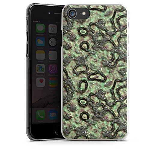 Apple iPhone X Silikon Hülle Case Schutzhülle Slime Grün Abstrakt Hard Case transparent