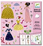 Djeco - Paper Dolls und Sticker Dresses Through the Season Papierpuppen