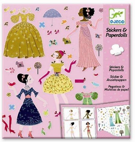 Djeco - Paper Dolls und Sticker Dresses Through the Season Papierpuppen (Paper Doll Sticker)