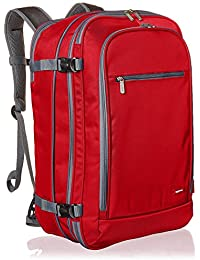 AmazonBasics 46 Ltrs Carry-On Travel Backpack, Red