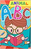 Animal ABC books for Kids Photo book: ABC Alphabet Flash Cards Upper And Lower Case (English Edition)