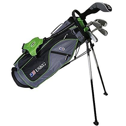 US kids Golf UL 57 Set Bolsa de Palos, Unisex niños, Verde, 10 a 12 años