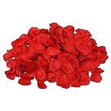 S/O® 500er Pack Rosenblätter Rosenblüten Rot Rosen Blätter Blüten Kunstblumen Seidenblumen