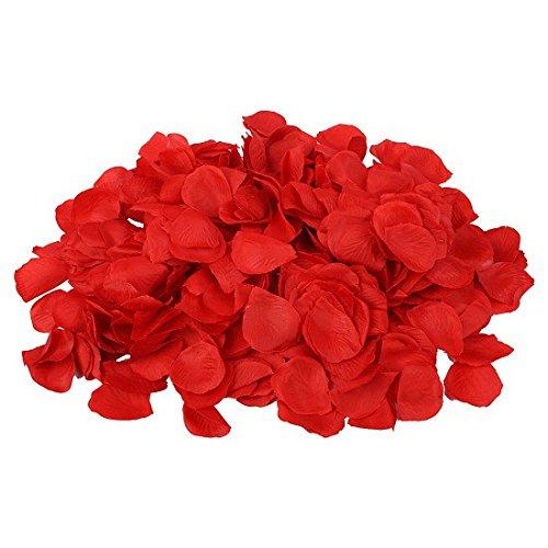 Schramm® 1000 Stück Rosenblätter Rosenblüten Rot Rosen Blätter Blüten Kunstblumen Seidenblumen 1000er Pack (Bett-blatt-rose)