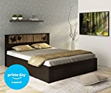 #1: Spacewood Vanessa Queen Size Bed with Storage (Woodpore, Natural Wenge)
