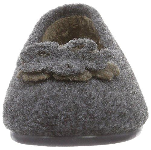 Gabor Home - 38001009s Roca, Pantofole Donna Nero (Schwarz (Antracite))