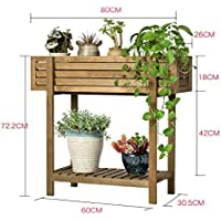 572fd716d84d Porte Plante Groove Solide Bois Créatif Fleur Balcon Balcon Salon Succulent Intérieur  Multi-fonctionnelle Fleur