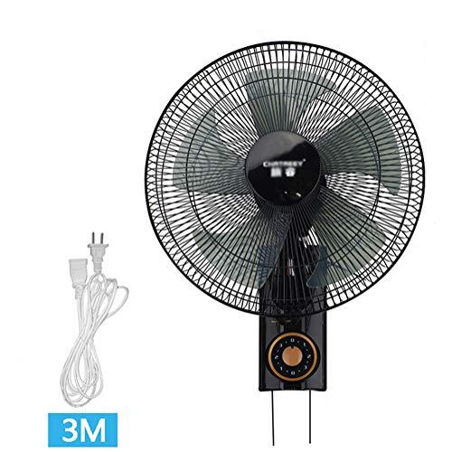 Ventilador/ventilador de pared/oscilación de 3 velocidades/Potencia de 60 vatios/Ventilador silencioso de Oficina...