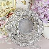 VINCIGANT Silber Schüssel Kristall Kerzenhalter für Couchtisch Dekoration Tabelle Kernstück Hochzeit Feier,Durchmesser 8cm - 4