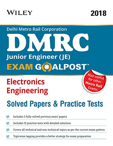 Wiley's DMRC Junior Engineer (JE) Electronics Engineering Exam Goalpost Solved Papers and Practice Tests