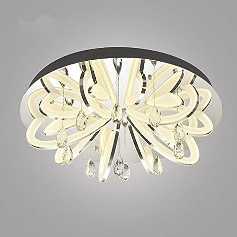 WSND Moderne Forme Amour Plafond LED Light Cafe Bar Salon Chambre Villa Personnalité acrylique Plafonnier