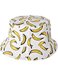 7f39630f4d6 ZLYC Unisex Funky Fruit Print Bucket Hat Fishmen Outdoor Cap