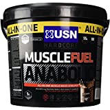USN Muscle Fuel Anabolic Lean Muscle Gain Shake Powder, Chocolate - 4 kg