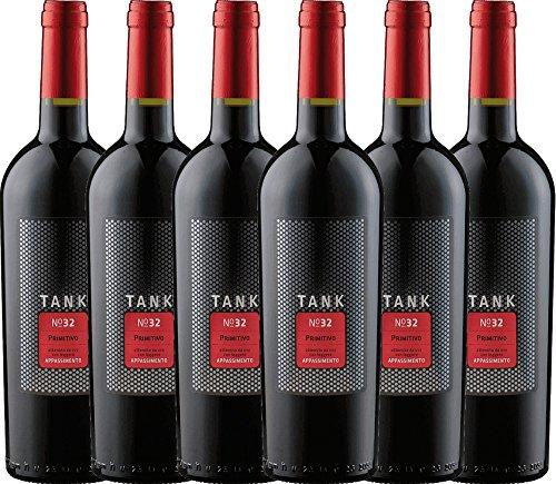 6er Paket - TANK No 32 Primitivo Appassimento 2017 - Cantine Minini | italienischer Rotwein | halbtrockener Wein aus Apulien | 6 x 0,75 Liter