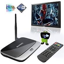 Quad Core Android 4.2 TV Box RJ45 Sans Fil WIFI 1920x1080P 2.0MP 2G/8G CS918 EU