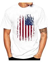 Oyedens Camiseta, Camiseta de Manga Corta de Algodón con Mangas Cortas Y Camiseta Estampada de Algodón Para Hombres