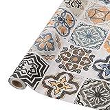 Fliesenaufkleber Mosaikfliese Klebefolie Fliesen für Küche und Bad - Deko Fliesenfolie Kacheldekor(61 x 500cm, PVC,Typ-B)