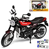 Kawasaki Z900 RS Rot Braun 1/12 Maisto Modell Motorrad mit individiuellem Wunschkennzeichen