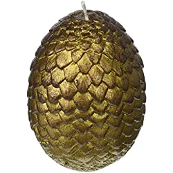 Game of Thrones: Sculpted Dragon Egg Candle (Gold)