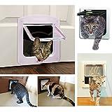 poloeds Hund Cat Flap Türen mit 4Wege Schloss für Pets Eintrag Exit