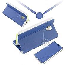 Prevoa ® 丨 MEIZU M1 NOTE Funda - Flip Funda Cover Case para MEIZU M1 NOTE 5.5 Pulgadas Smartphone - DARK BLUE