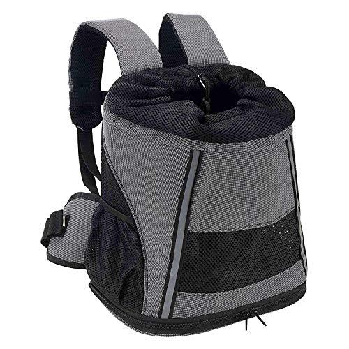 Maxmer zaino per cani trasportino da viaggio borsa per gatto piccoli animali zaino torace anteriore apertura superiore rivestimento in pvc impermeabile traspirante stuoia di lana