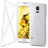 moex Samsung Galaxy S5 Mini | Hülle Silikon Transparent Klar Clear Back-Cover TPU Schutzhülle Dünn Handyhülle für Samsung Galaxy S5 Mini Case Ultra-Slim Silikonhülle Rückseite