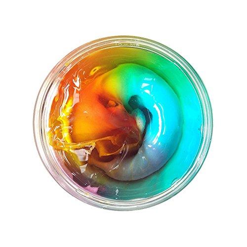weant arcilla juguetes mezcla nube Slime no bórax seguro no tóxico Squishy aromática Rainbow Magic suave mano DIY arcilla Stress Relief juguete para niños adultos Regalo de Navidad decoración para el hogar, G
