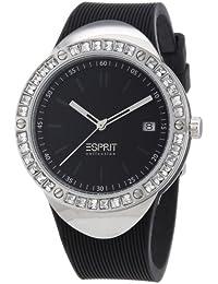 Esprit Damen-Armbanduhr Eunomia black Analog Quarz Silikon EL101982F01