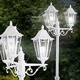 MIA Light Außen Kandelaber Leuchte/Weiß/Mastleuchte Wegeleuchte Mastlampe Wegelampe Lampe Strassenlaterne