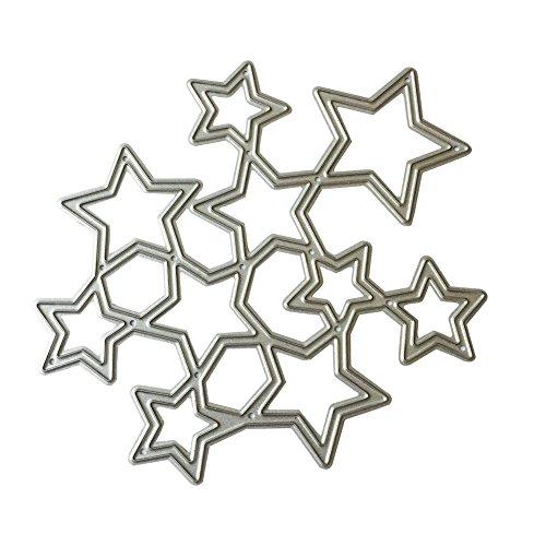 Broadroot Metall DIY Sterne Stanzformen Schablone Scrapbooking Präge Papier Handwerk Vorlage Wohnkultur - Stern-schablonen