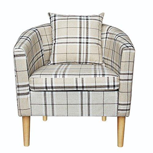 shougui trade Badewanne Stuhl Sessel Sofa Sitz, Classic Schlafzimmer Badewanne Sofa Stuhl Velvet Fabric Lounge Recliner Stuhl mit Beinen für Esszimmer Wohnzimmer Büro Empfangsraum, grau - Velvet Schlafzimmer