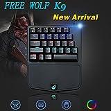 K9 Einhand Spiel Tastatur grüne Achse mechanische Tastatur Jedi Überleben Huhn Spiel Tastatur