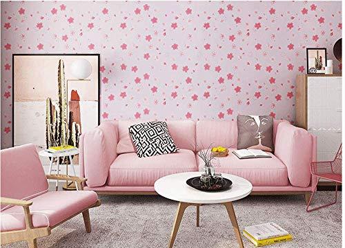 Chambre chaleureuse chambre fille fille coeur autocollant rose romantique dortoir féminin chambre autocollants papier peint spécifications 5 * 0.6M
