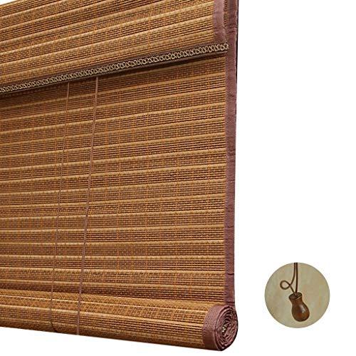 ZAQI Estores enrollables Persiana Enrollable de bambú de Estilo japonés: persiana Opaca, Puerta del salón de té del Hotel, marrón, 100/120/140/150/160 cm de Ancho (Size : 150×250cm)