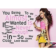 Ariana Grande–alomost nunca es suficiente–Pop Star Superstar Singer Sexy Lady mejor foto de color de imagen única Impresión A4Póster