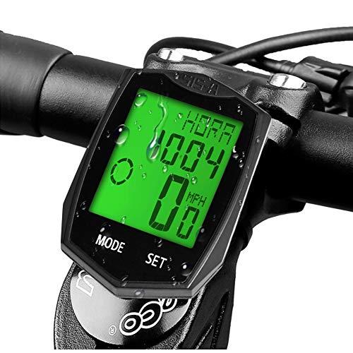 DINOKA Ordinateur de vélo, Ordinateur de vélo sans fil étanche Compteur de vitesse pour vélo...