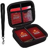 400+ Karten Tragen Tasche für Exploding Kittens Card Game. Mit Freien 2 Teilern + Easy Go Handschlaufe - Schwarz