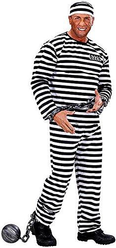 WIDMANN Größe L - Kostüm - Verkleidung - Karneval - Halloween - Gefangener Gefangener - Weiße Farbe - Erwachsene - Mann - Junge
