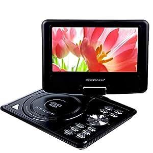 """DBPOWERà 9.5"""" Lecteur DVD Portable écran LCD 180à° Rotatif, Soutien DVD,VCD,CD,USB(Noir)"""