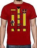 Déguisement de pompier Costume Halloween T-Shirt Homme Large Rouge