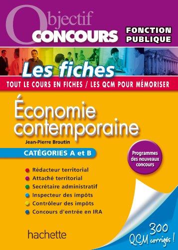 Economie contemporaine - Catégories A et B
