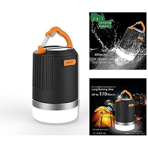 LED Lanterna da campeggio, portatile ultra luminosa Lampada da esterno