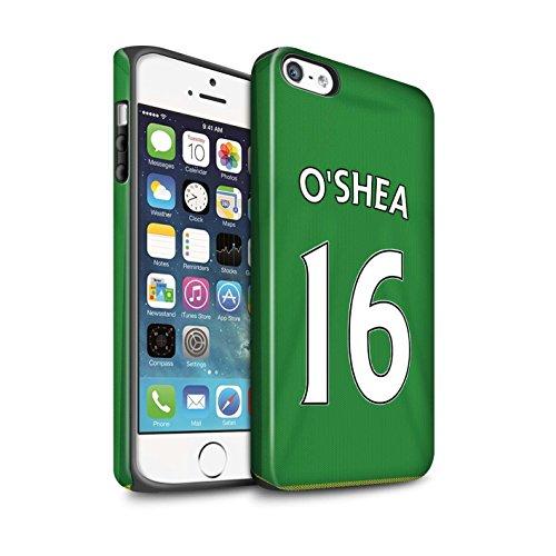 Offiziell Sunderland AFC Hülle / Matte Harten Stoßfest Case für Apple iPhone 5/5S / Defoe Muster / SAFC Trikot Away 15/16 Kollektion O'Shea