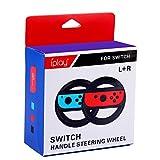 Nintendo Switch,Mario kart 8 Deluxe Volante Gamepad Volante Gioco Volante Supporto Pack di 2