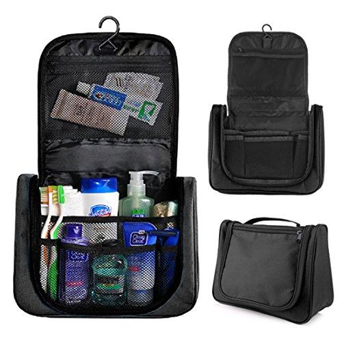 Beauty Case da Viaggio,Hipsteen Multifunzioni Viaggiante Appesa Cosmetica Borsa Sanitaria Borsa Toilette Borsa Viaggio Organizzatore - Nero