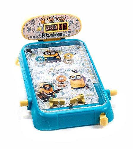 Unbekannt Flippertisch für Kinder, Design Minions, Souds, Punktstandanzeige digital, Bumper gefedert und beleuchtet, Größe ca. 22 x 31 x 14 cm