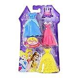 Disney Princess MagiClip Zubehör Set mit 3 Kleider für Belle, Cinderella und Dornröschen